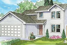 Home Plan - Farmhouse Exterior - Front Elevation Plan #124-770