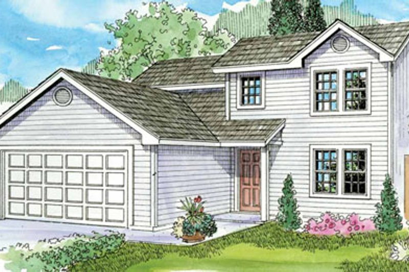 Dream House Plan - Farmhouse Exterior - Front Elevation Plan #124-770
