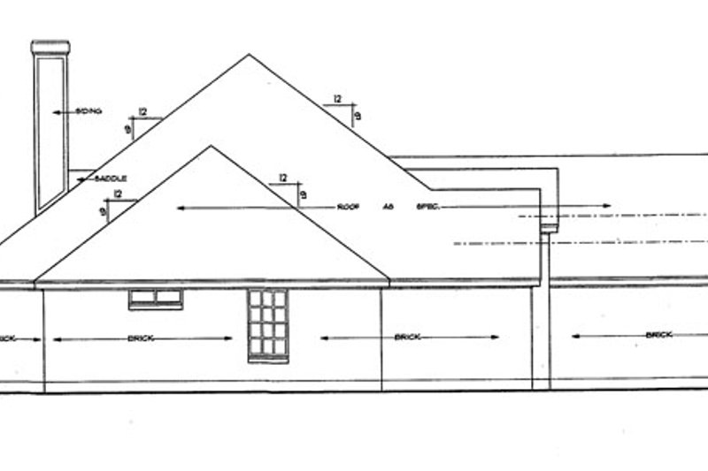 Ranch Exterior - Other Elevation Plan #42-514 - Houseplans.com
