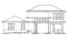 Contemporary Exterior - Rear Elevation Plan #942-55