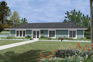 Ranch Exterior - Front Elevation Plan #57-259