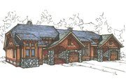 Craftsman Style House Plan - 2 Beds 2 Baths 3012 Sq/Ft Plan #921-18 Exterior - Front Elevation