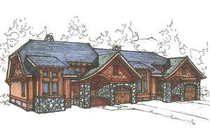 Craftsman Exterior - Front Elevation Plan #921-18