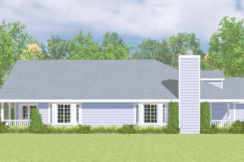 Ranch Exterior - Other Elevation Plan #72-1080 - Houseplans.com