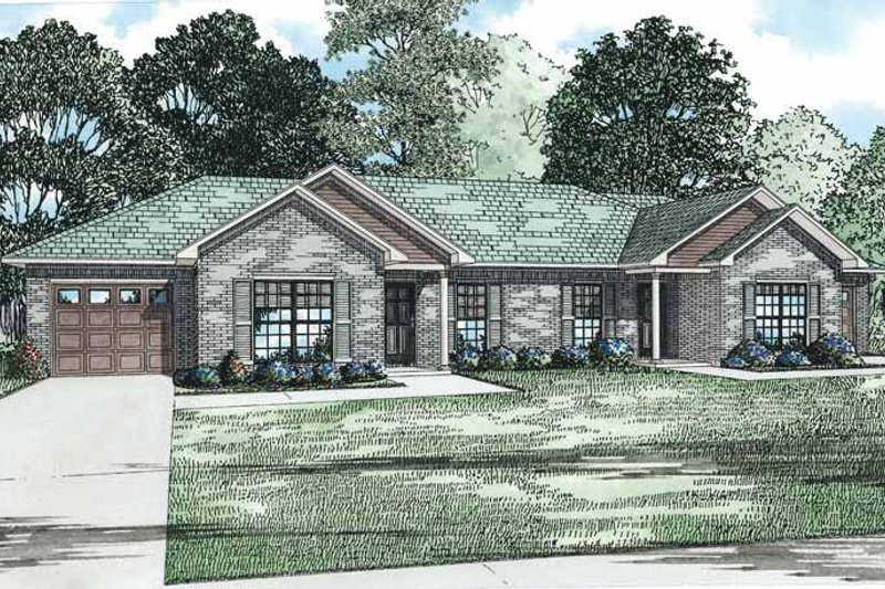 Home Plan - Traditional Exterior - Front Elevation Plan #17-3332