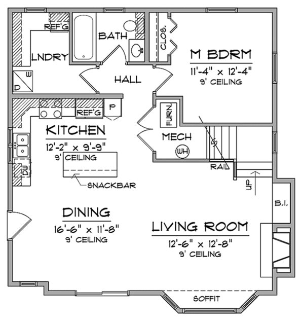 Craftsman Floor Plan - Other Floor Plan Plan #981-17