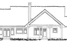 Ranch Exterior - Rear Elevation Plan #942-21