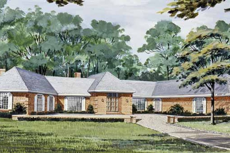 Dream House Plan - European Exterior - Front Elevation Plan #314-265