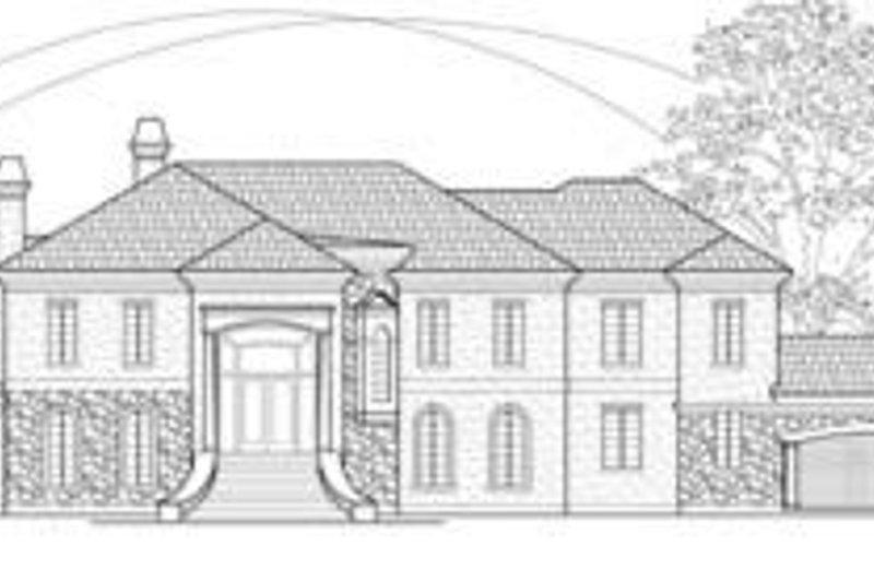 European Exterior - Front Elevation Plan #61-162 - Houseplans.com