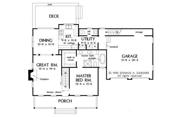 Farmhouse Floor Plan - Main Floor Plan Plan #929-39