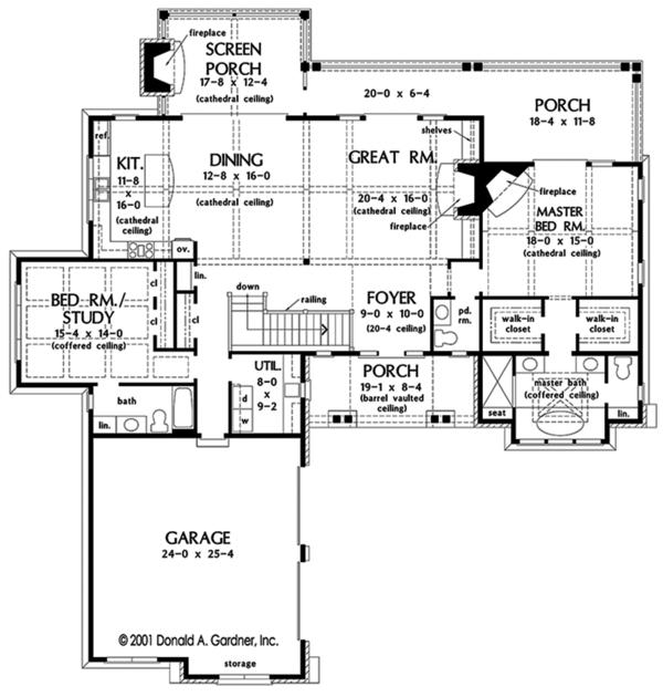 Dream House Plan - European Floor Plan - Main Floor Plan #929-975