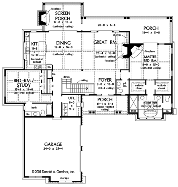 Dream House Plan - European Floor Plan - Main Floor Plan #929-975