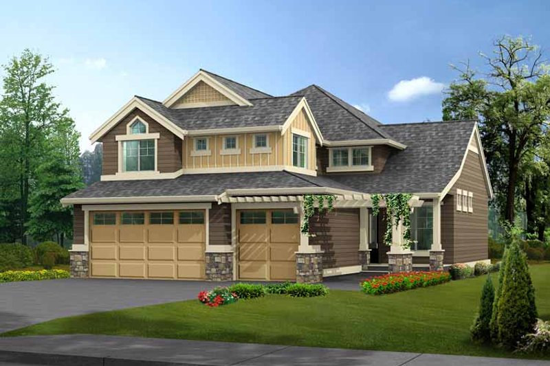 Home Plan - Craftsman Exterior - Front Elevation Plan #132-361