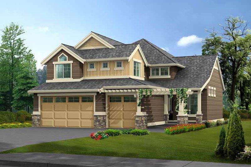Dream House Plan - Craftsman Exterior - Front Elevation Plan #132-361
