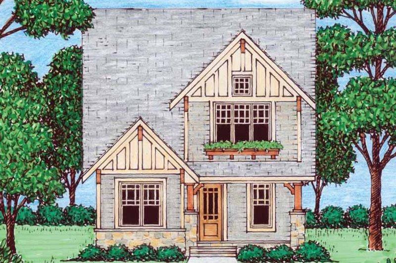 Craftsman Exterior - Front Elevation Plan #413-905