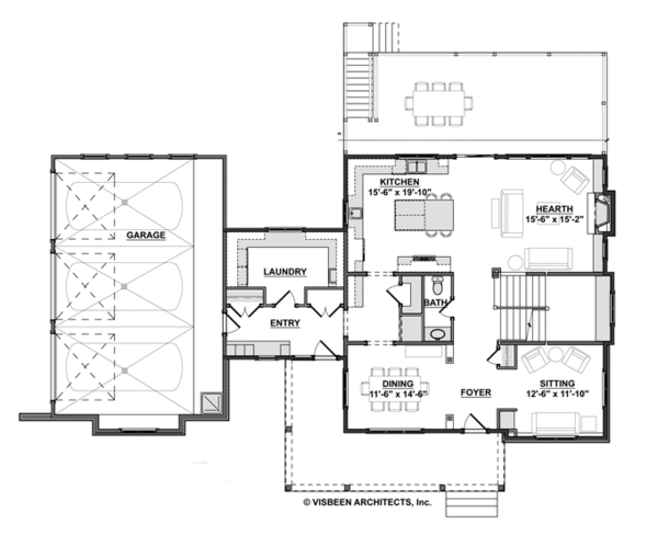 Contemporary Floor Plan - Main Floor Plan Plan #928-273