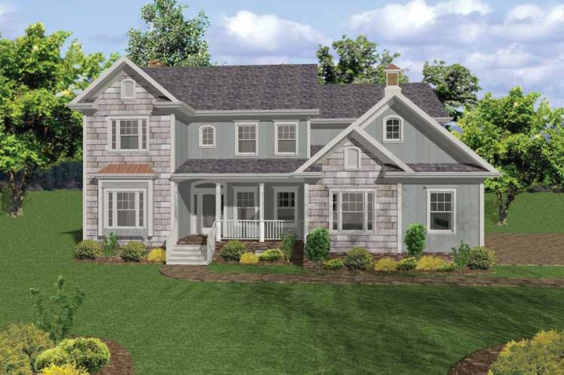 Country Exterior - Front Elevation Plan #56-668 - Houseplans.com