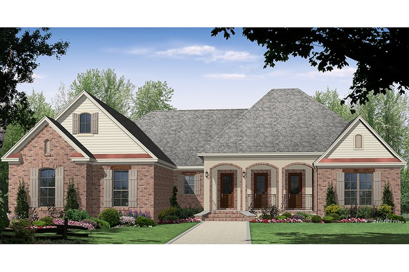 Country Exterior - Front Elevation Plan #21-433 - Houseplans.com