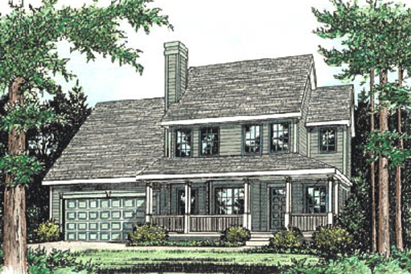 Country Exterior - Front Elevation Plan #20-236