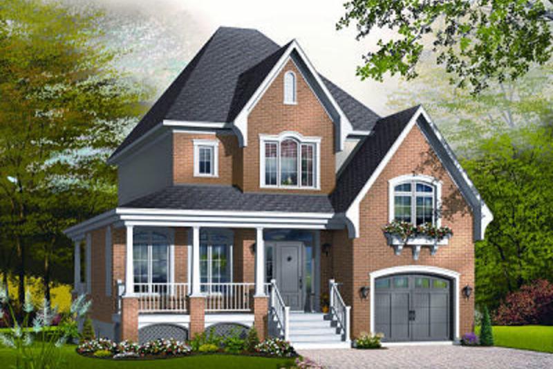 Farmhouse Exterior - Front Elevation Plan #23-807 - Houseplans.com