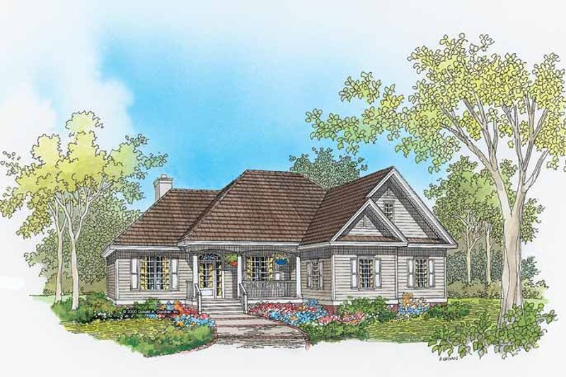 Architectural House Design - Ranch Exterior - Front Elevation Plan #929-633