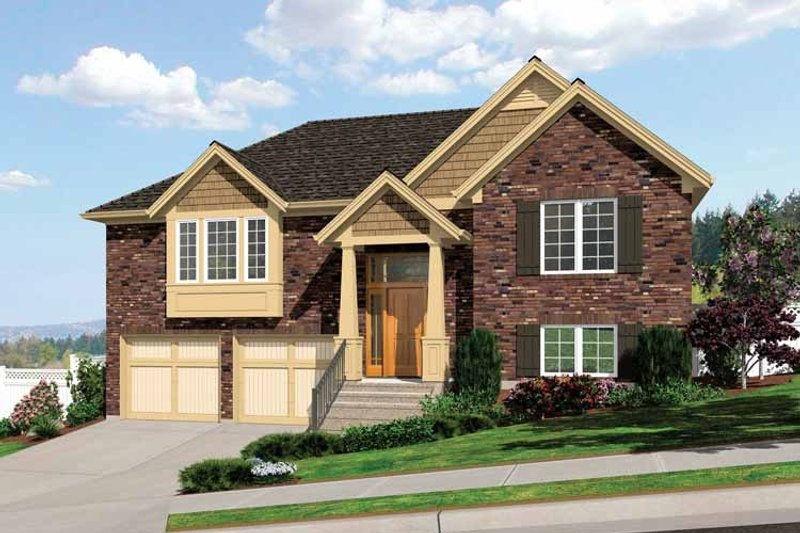 Traditional Exterior - Front Elevation Plan #46-805 - Houseplans.com