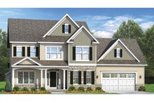 Colonial Exterior - Front Elevation Plan #1010-56