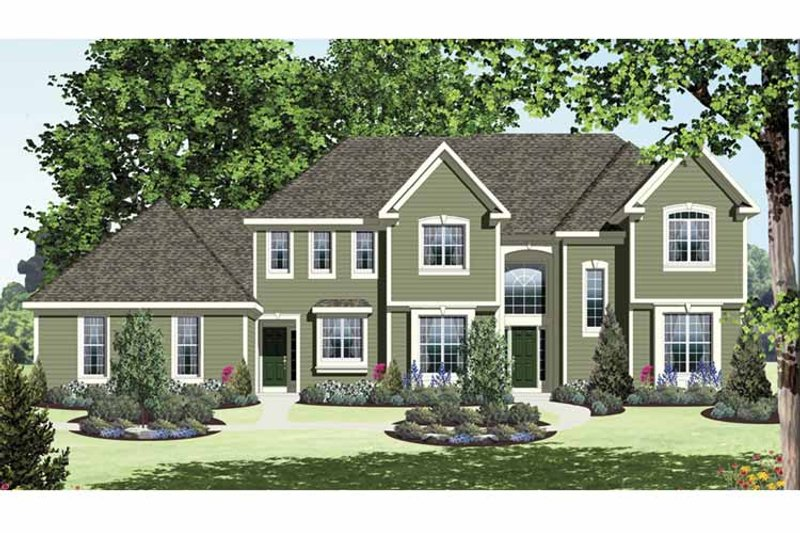 Traditional Exterior - Front Elevation Plan #328-465 - Houseplans.com