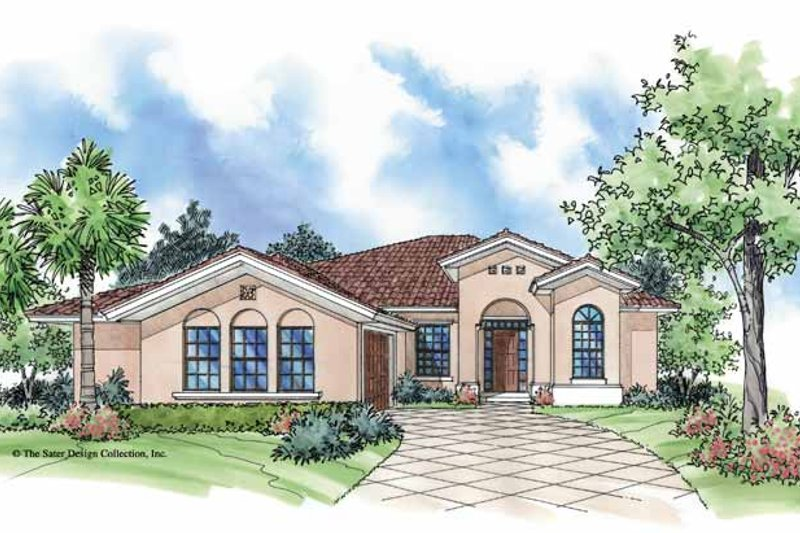 Architectural House Design - Mediterranean Exterior - Front Elevation Plan #930-390