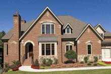 House Plan Design - European Exterior - Front Elevation Plan #54-308