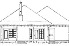 Country Exterior - Rear Elevation Plan #942-28