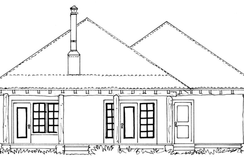 Country Exterior - Rear Elevation Plan #942-28 - Houseplans.com