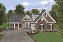 Dream House Plan - Traditional Exterior - Front Elevation Plan #56-691