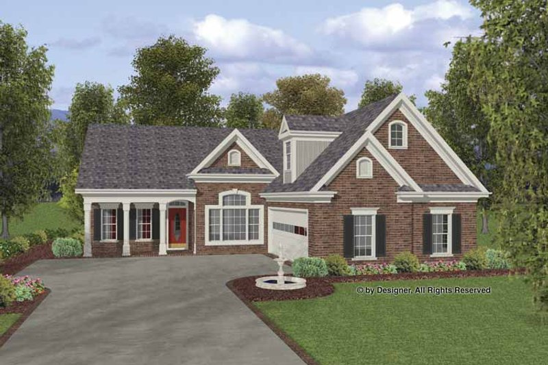 Traditional Exterior - Front Elevation Plan #56-691 - Houseplans.com
