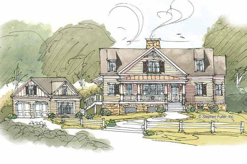 Craftsman Exterior - Front Elevation Plan #429-382 - Houseplans.com