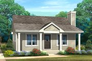 Cottage Style House Plan - 1 Beds 1 Baths 692 Sq/Ft Plan #22-596