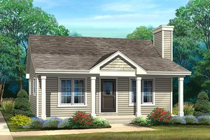 Cottage Exterior - Front Elevation Plan #22-596