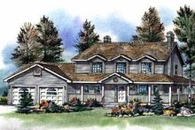 Country Exterior - Front Elevation Plan #18-261