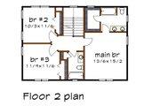 Craftsman Style House Plan - 3 Beds 2.5 Baths 1571 Sq/Ft Plan #79-297 Floor Plan - Upper Floor