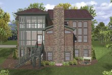 Home Plan - Traditional Exterior - Rear Elevation Plan #56-678