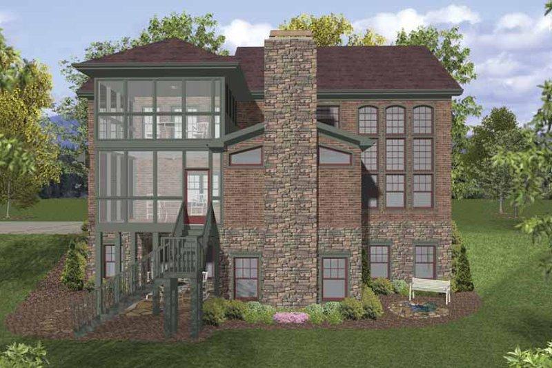 Traditional Exterior - Rear Elevation Plan #56-678 - Houseplans.com