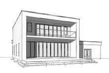House Plan Design - Contemporary Exterior - Rear Elevation Plan #23-2645