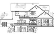 Traditional Style House Plan - 6 Beds 5.5 Baths 3608 Sq/Ft Plan #5-211 Exterior - Rear Elevation