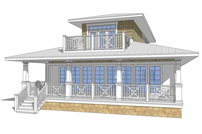 Country Exterior - Rear Elevation Plan #64-306 - Houseplans.com