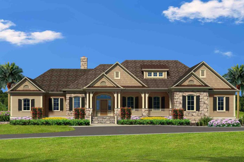 Traditional Exterior - Front Elevation Plan #1054-21