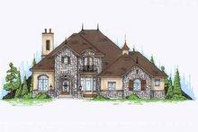 Architectural House Design - European Exterior - Front Elevation Plan #945-76