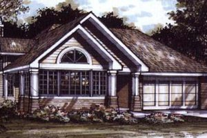 Bungalow Exterior - Front Elevation Plan #320-386