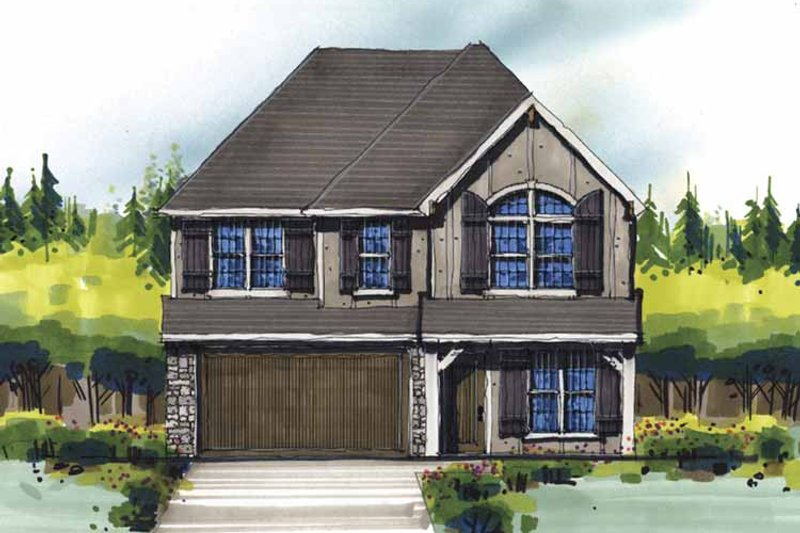 Country Exterior - Front Elevation Plan #509-348