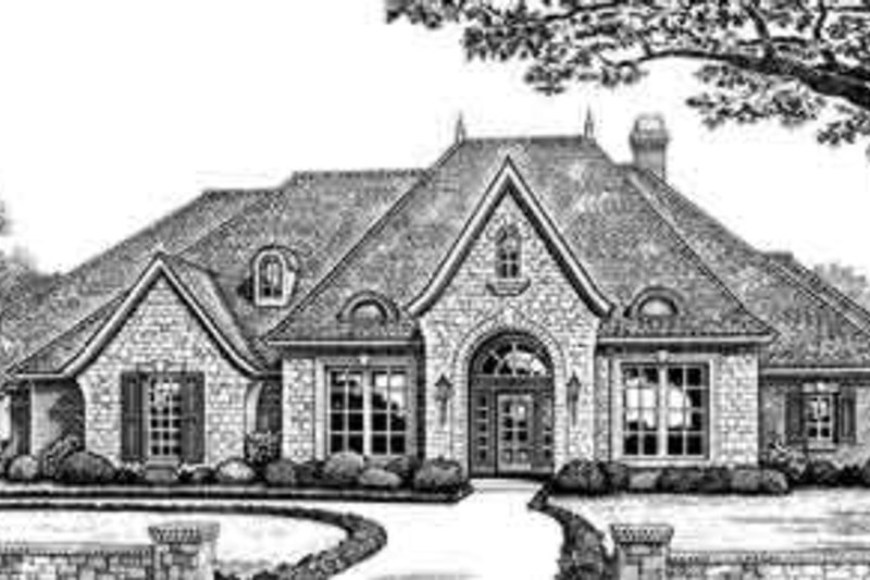 European Exterior - Front Elevation Plan #310-272 - Houseplans.com