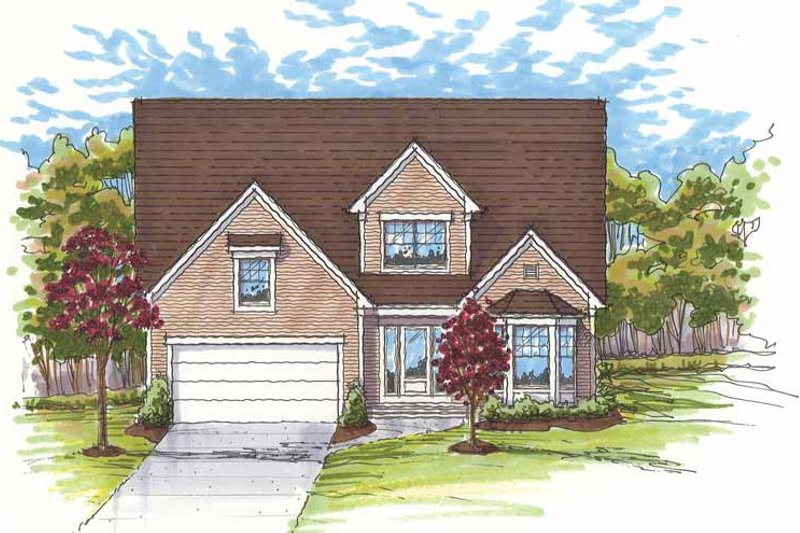 House Plan Design - Traditional Exterior - Front Elevation Plan #435-9